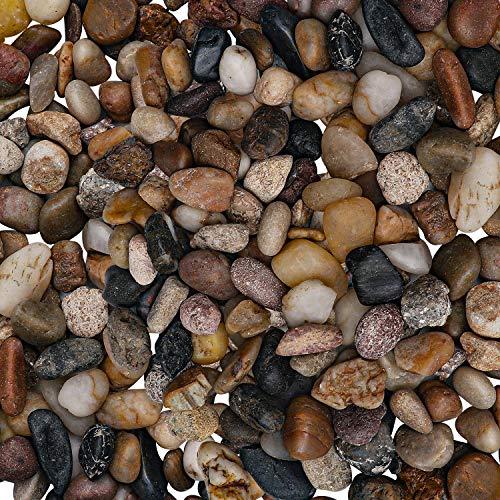 Kieselsteine - 3,6kg Verschiedene Mini Deko Steine für Vasen (1,4-2,6cm Kies) – Pebbles Zierkies Dekogranulat Flusskiesel Granulat zur Dekoration, für Pflanzen, Aquarium, Blumentopf, Basteln