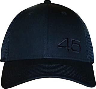 45 Trump Hat/Cap - Black Structured Mesh Back, Unstructured, CAMO