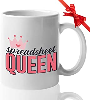 Accountant Mug 15 Oz - Spreadsheet Queen - Funny CPA Certified Public Accountant Occupation Job Accounting Comptroller Auditor Tax Spreadsheet