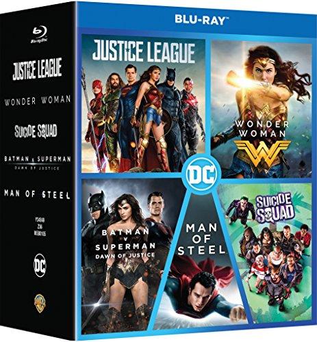 DC 5 Movies Collection: Justice League + Wonder Woman + Batman v Superman: Dawn of Justice + Superman: Man of Steel + Suicide Squad (5-Disc Box Set)