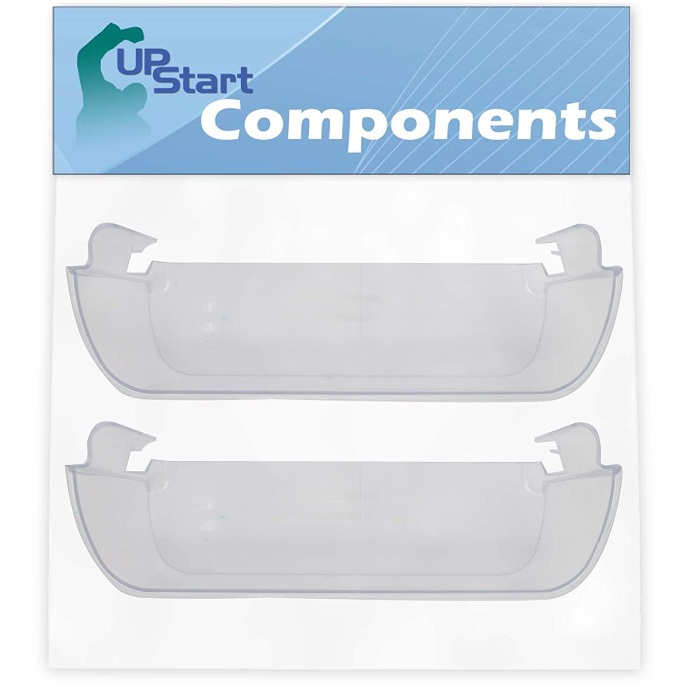 2-Pack 240323002 Refrigerator Clear Door Bin Replacement for Frigidaire FGHS2631PF3 Refrigerator - Compatible with 240323002 Door Bin - UpStart Components Brand