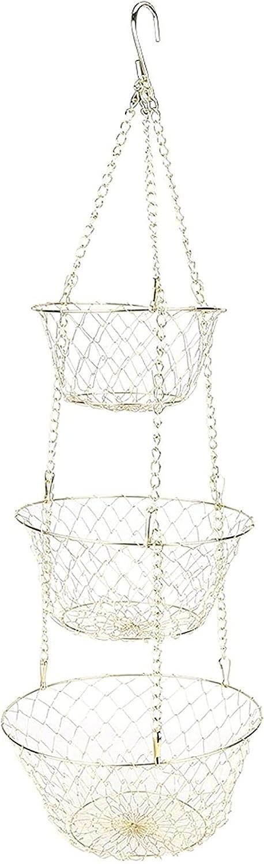 Finally resale start 3-Tier High order Hanging Fruit Produce Wire Duty Basket Heavy