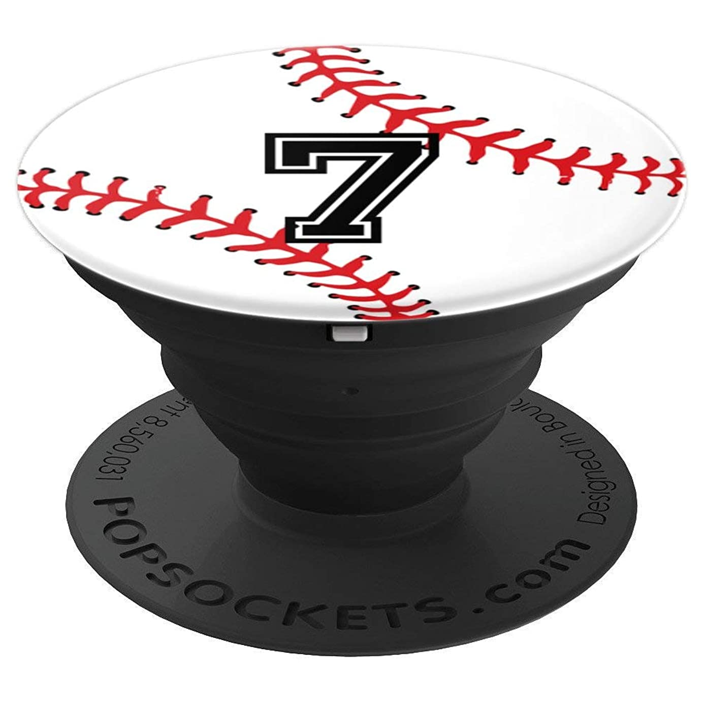 Number #7 Baseball Softball Pop Grip | Sports Pocket Socket - PopSockets Grip and Stand for Phones and Tablets bml6526717