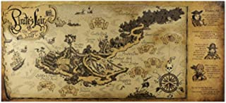 Wall Paintings,Vintage Pirate's Lair Map Vintage Kraft Paper Poster Wall Decoration for Living Room Coffee Shop,Antique World map Posters Make Your Room Full of Fashion