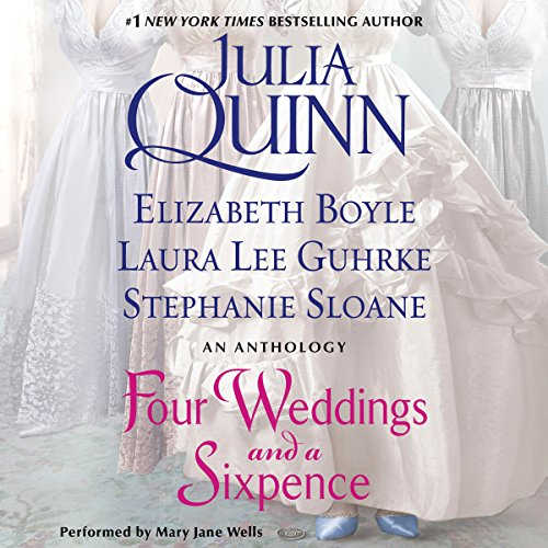 Four Weddings and a Sixpence audiobook cover art