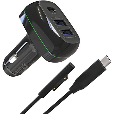 Black Male 10ft Sisyphy Surface Connect to USB-C Charging Cable Compatible for Microsoft Surface Pro7 Go2 Pro6 5//4//3 Surface Laptop1//2//3 /& Surface Book Black TVP Works with 45W 15V3A USBC Charger