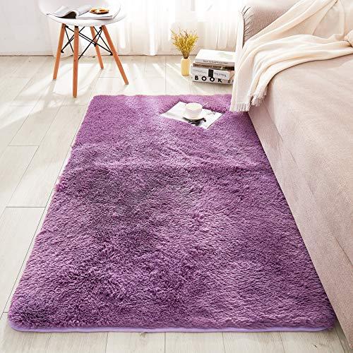 WERDIM - Alfombra de piel sintética de felpa para interiores, para dormitorio, sala de estar, decoración del hogar, antideslizante,...