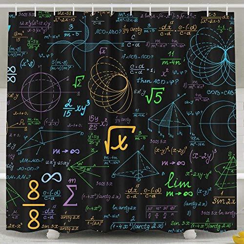 N/A Geometrische berekeningen Mode Douche Gordijn Deluxe Waterdichte Badgordijn 60 x 72inch