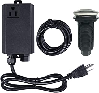 Garbage Disposal Air Switch Kit Sink Top Waste Disposal Long Stainless Steel On/Off Air Button Food and Waste Disposals Part by Etoolcity