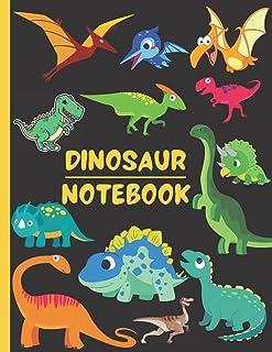 Dinosaur Notebook: Cute Jurassic Themed Composition Journal For Kids  Wide Ruled Notebook