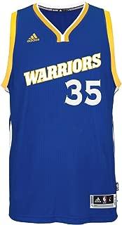 adidas NBA Men's-Kevin Durant #35-Golden State Warriors-Swingman Jersey-(Warriors) Blue-Large