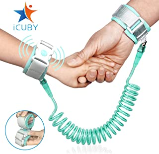 Upgraded Anti Lost Wrist Link, Kid Leash Harness with Induction Lock, Safety Wrist Leash for Toddlers, Babies & Kids, Wrist Traction Rope for Shopping & Travel (Green)