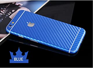 Toeoe 6 Plus Luxury 3D Textured Carbon Fibre Full Body Vinyl Wrap Sticker Skin Cover for Apple iPhone 6 Plus 5.5 inch (Blue)