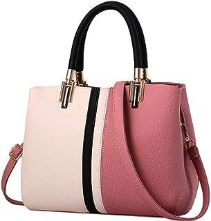 Ladies Fashion Contrast Color Large Capacity Handbag Leisure Panelled Women Shoulder Bag handbag,D,S