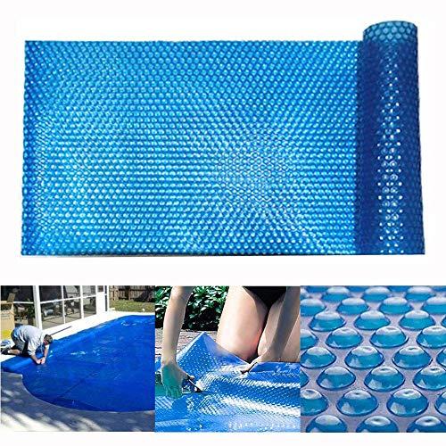 EXUVIATE Rechthoekige Zonnekap 400 μm Dikke Zonnefolie Zwembad Verwarming Zwembaden Drijvende Ronde PE Blauwe Bubble Padding Cover Sheet