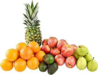 Gourmet Mixed Fruit Pack (15 Lbs) with - 1 Pineapple, 4 Avocado, 12 Apple, 12 Orange, 6 Pear (35 Pieces) from Capital City...