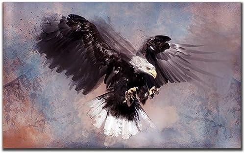 wholesape barato HPCAGLL 5D DIY Diamond Painting Set Eagle, Arte Abstracto, Abstracto, Abstracto, Punto de Cruz Art Deco 210x105cm  marca famosa