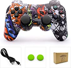 PS3 Controller Wireless Dualshock Remote/Gamepad for Sony Playstation 3 Bluetooth PS3 Sixaxis Joystick with Charging Cable(Horde)