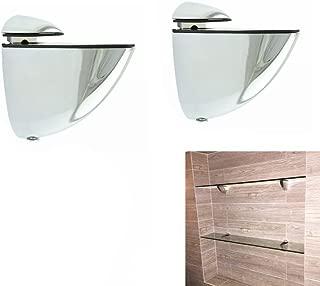 Metal Adjustable Wood/Glass Shelf Bracket Wall Mount 2 Pcs or One Pair, Polished Chrome