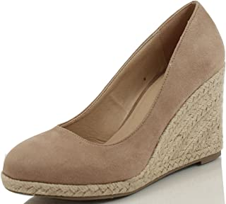 Delicious Women's Parma Round Toe Espadrille Wedge Slip on Sandals