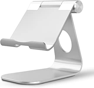 iPad Pro Stand, Eli-time Adjustable Multi-Angle Aluminum Stand with Stable Sticky Base and Convenient Charging Port, Fits ...