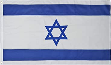 Green Grove Products Israel Flag 3' x 5' Ft 210D Nylon Premium Outdoor Embroidered Israeli Flag