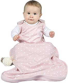 Woolino 4 Season Baby Wearable Blanket Sleep Bag Sack - Merino Wool 2-24 Months - Rose