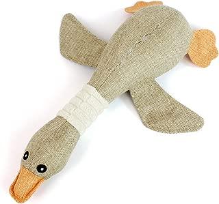 h8espliind Puppies Squeaky Canvas Goose Duck Chew Toy for Small Medium Dog
