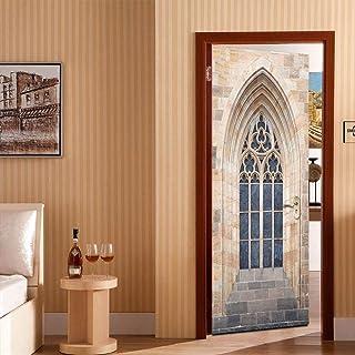 StickerPorte Porte Baroque 3D Porte En Trois Dimensions Autocollants Décoration De La Maison Stickers Muraux Taille De Su...
