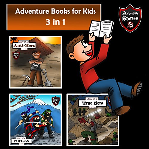 Adventure Books for Kids: 3 in 1 Diaries with Action and Adventure audiobook cover art