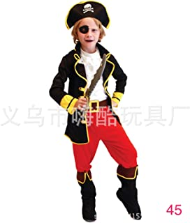 Boy Pirate Costume 5-Piece Set For Ages 3-10years (5-7 years)