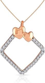 Malabar Gold & Diamonds 18k (750) Rose Gold Pendant for Women