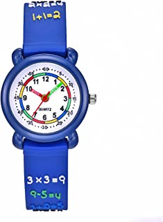 Vanyar arithmetic Time Teacher Quartz Wrist Watch for Kids Rubble Band Blue