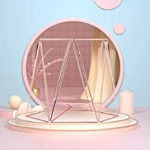 OSALADI Rose Gold Geometric Metal Candle Holders Tea Light Votive Tealight Holders, Centerpieces for Home Decor, Wedding, ...
