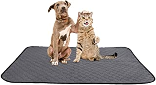 SlowTon Washable Dog Pee Pad, Reusable Waterproof Doggy Cats Potty Mat Super Fast Absorbent Comfortable Unscented No Leak ...