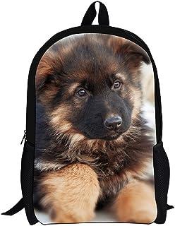 SHUB Children School Backpack Cute 3D Animal German Shepherd Printed Student Schoolbags Casual Kids Backbag Bolsa