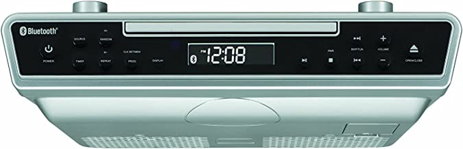 Sylvania SKCR2713 Undercounter CD Player with Radio and Bluetooth, Silver (Renewed)