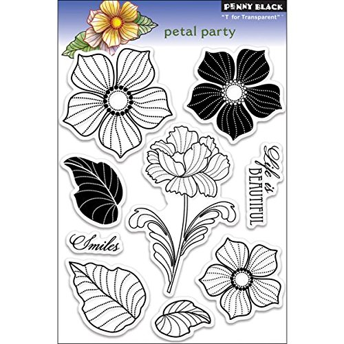 Penny Black Rubber Clear Stamps 12,7cm x 19,1cm Sheet-Petal Party