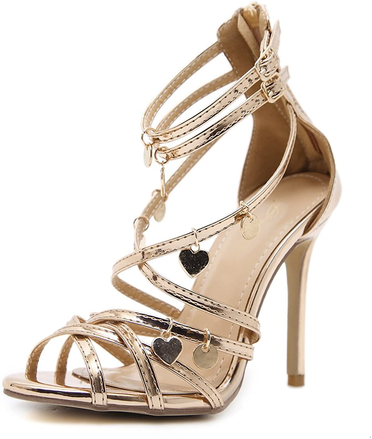 Women's Open Toe Strappy High Heel Sandals - Sexy Cross Strap Sandals Pumps - Summer Party Dress shoes
