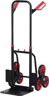 DURHAND Carretilla Plegable para Escalera con Ruedas Carga 150kg Carretilla de Mano Portátil para Entrega Almacenes Mercado Viajar Mudarse