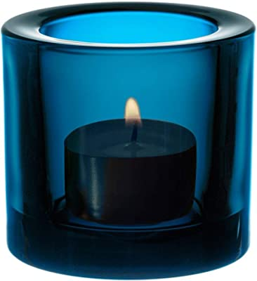 Kivi - Bougeoir t 60mm Dark Turquoise/Transparent/foncé