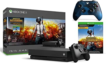 Microsoft Xbox One X 1TB PlayerUnknown's Battlegroun Bundle + Midnight Forces II Special Edition Wireless Controller | Inc...