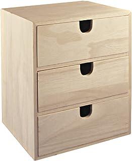 Rayher Hobby 62382000 - Cómoda de madera con 3 cajones, 21,