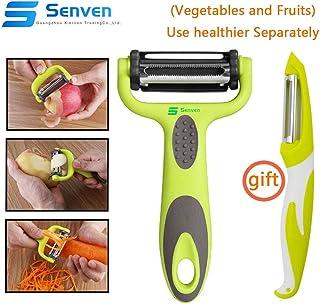 XelparucTS Outil multifonction pour fruits et l/égumes en luffa de cuisine Coupe concombre carotte /éplucheur de pommes de terre Julienne R/âpe