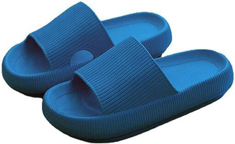 Pillow Slides Slippers for Women, Non-Slip Massage Foam Shower Bathroom Home Floor Thick Sole Quick Drying Womens Mens Sandals, Soft Comfortable EVA Platform Open Toe Slides Shoes