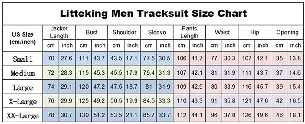 Litteking Mens Tracksuits 2 Piece Outfit Casual Long Sleeve Sweat Suit Set Full Zipper Sports Jogging Suits