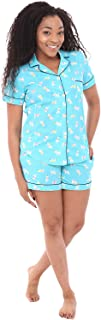 Alexander Del Rossa Women's Lightweight Button Down Pajama Set, Short Summer Pjs