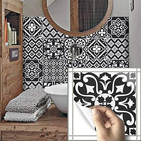 10Pcs Vintage Moroccan Self-adhesive Bathroom Kitchen Wall Floor Tile Sticker