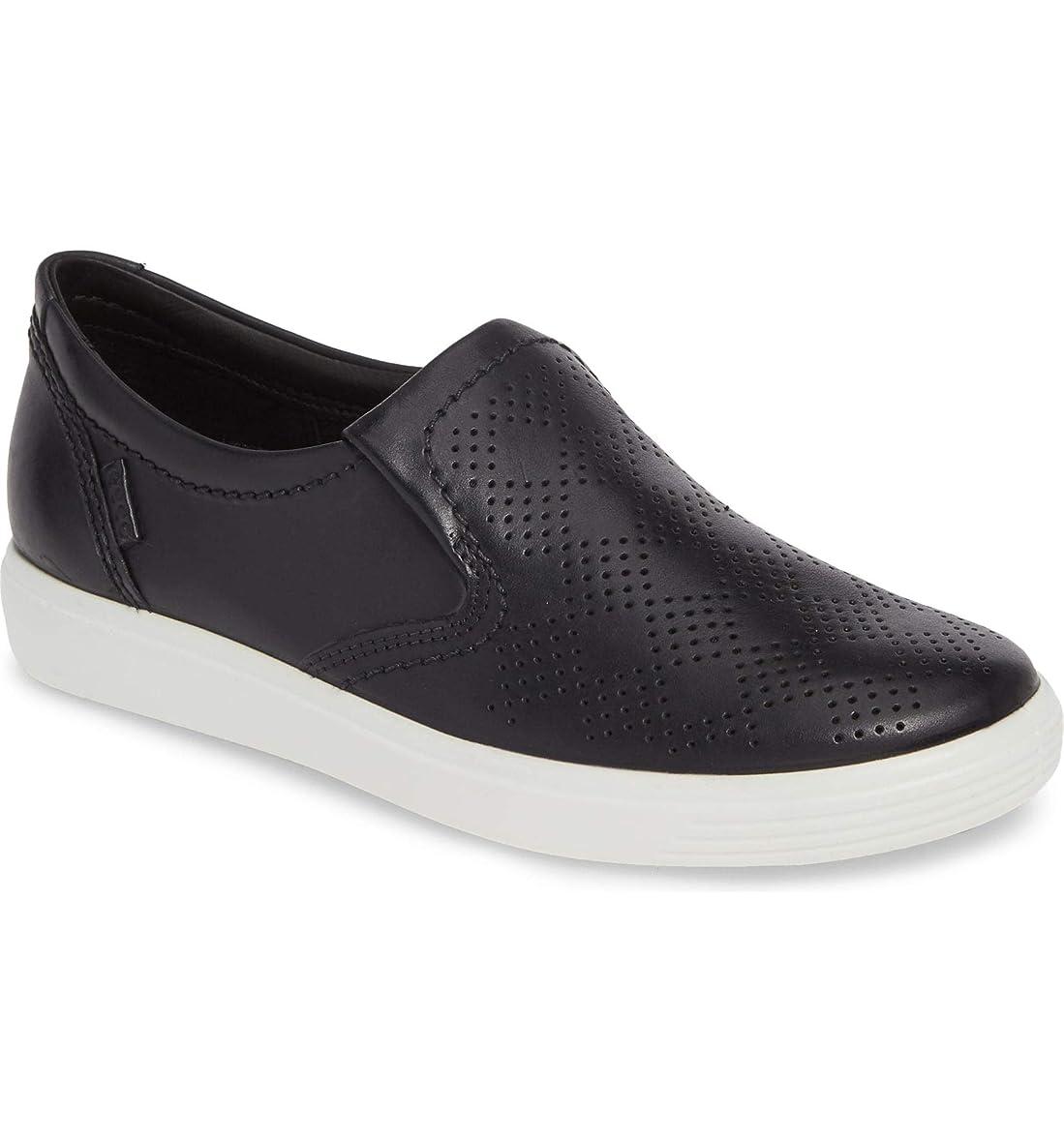 消毒する波パプアニューギニア[エコー] レディース スニーカー Soft 7 Perforated Slip-On Sneaker ([並行輸入品]