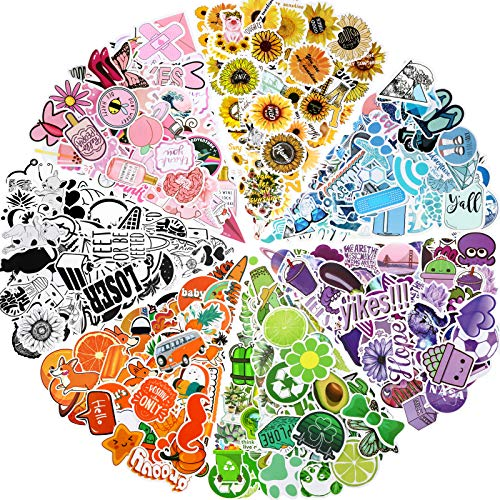 Zonon 350 Pieces Mixed Stickers for Water Bottles, Cute Funny Waterproof Vinyl Stickers for Kids Teens and Girls, Mixed Laptop Decals for Water Bottle, Computer, Phone, Luggage, Guitar, Refrigerator